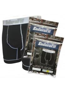 EnduraFit Cotton Boxer Brief - 3 Pack - Black