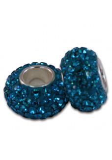 Teal Crystal Shimmer Bead
